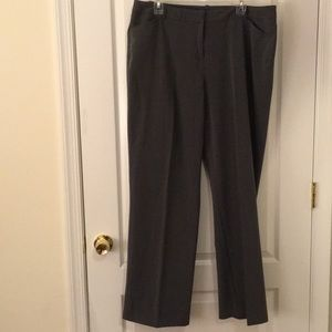 16W charcoal grey trousers